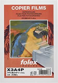 folex OHP膜 A4 PPC用 X3A4P 透明 20张装