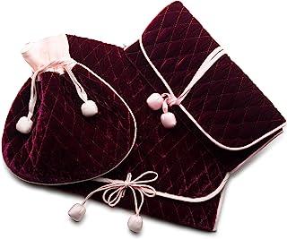 Zazendi Cranberry 贴身包,天鹅绒信封