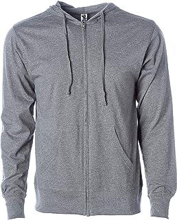 Global Blank 男式轻质 T 恤针织全拉链连帽运动衫