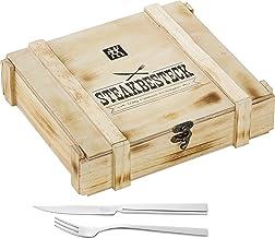 Zwilling 双立人 牛排餐具套装 07150-359-0 古朴木箱 餐具为不锈钢材质,12件套