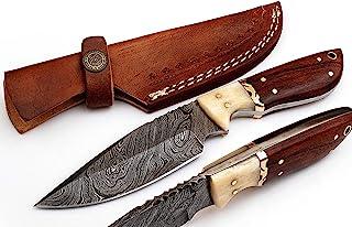 MADISON 2121 WB 自定义手工制作大马士革刀片,专业狩猎刀