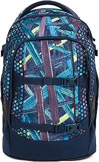 satch 包装学校背包48厘米 Splashy Lazer Blau Bunte Streifen one size
