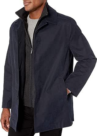 London Fog 男士 Berne Micro 斜纹全天候外套
