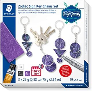 STAEDTLER 星形字符钥匙扣套装,用于在烤箱硬质建模量中创建钥匙扣挂件,可通过星座的倾斜个性化,61 DJT2