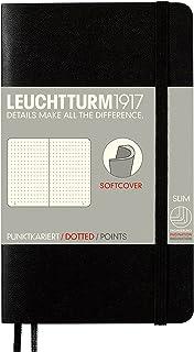 LEUCHTTURM1917 灯塔口袋型点格笔记本黑色软封皮(A6)