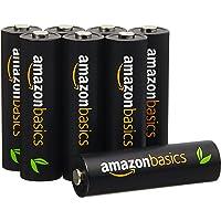 AmazonBasics 亚马逊倍思 8节五号高容量镍氢预充电可充电电池,可循环使用 500次(标准值:2500 mAh…