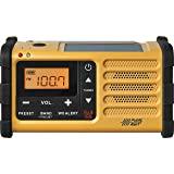 Sangean MMR-88 AM/F/Weather+Alert 紧急收音机。 Solar/Hand 曲轴/USB/手…