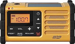 Sangean MMR-88 AM/F/Weather+Alert 紧急收音机。 Solar/Hand 曲轴/USB/手电筒,警报器,智能手机充电器MMR-88 6.60in. x 4.90in. x 3.95in.