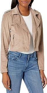 Lola Jeans 女式仿麂皮机车夹克