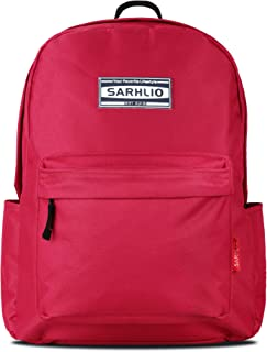 Sarhlio 经典学校 15.6 英寸笔记本电脑背包 红色 12.4 x 5.3 x 16.5