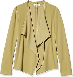 Nine West 女士长袖纯色软绉纱夹克