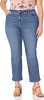 NYDJ 女士加大码 Marilyn 直筒牛仔裤