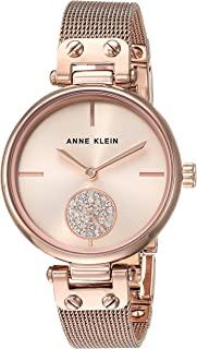 Anne Klein 女士施华洛世奇水晶网格手链手表