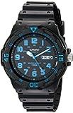 Casio 卡西欧中性 MRW200H-2BV 新显示器橡胶表带黑色手表