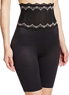 ATSUGI 塑身裤 骨盆矫正 蕾丝高腰 骨盆支撑 折边长款束腰裤