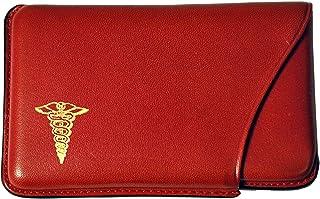 Budd Leather Company Sliout带*标志的名片盒 红色