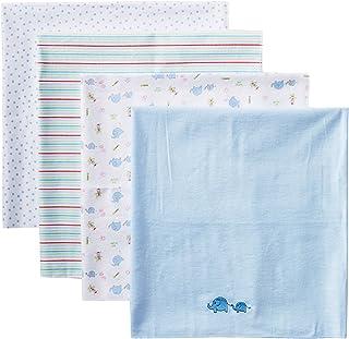 Spasilk Baby-Boys Newborn 4 Pack 100% Cotton Flannel Receiving Blanket