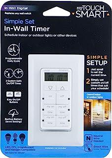 mytouch 智能数字计时器扶手, plug-in ,室内,1偏光插座,简单设置,可用于室内照明和其他小号装置,36253