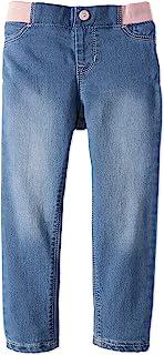 Jordache 女童针织腰带超紧身弹力牛仔裤