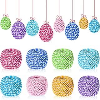 744 码 8 卷棉质烘焙纱绳,复活节 DIY 棉绳,棉质烘焙师绳索棉绳工艺手工艺品