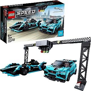 LEGO 76898 Speed Champions Formula E Panasonic 美洲豹赛车 GEN2 赛车和捷豹 I-PACE eTROPHY 赛车套装