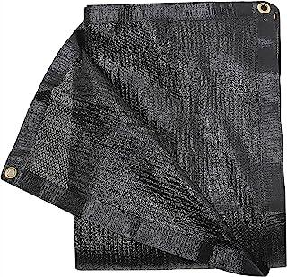 50% 黑色遮光布包边带索环遮阳织物遮阳网网适用于Pergola Patio 后院花园遮阳板(15.24 x 15.24 厘米)