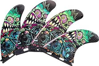 3DFINS 高性能冲浪板脚蹼 GOHARD 系列 – 四个(4 个鳍),期货底座 – 凹坑技术 – *大控制