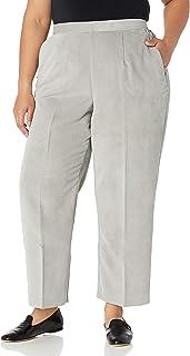 Alfred Dunner 女士加大码 Cordury 短裤,正面干净,后部弹性