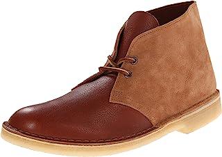 Clarks 男式 皮革沙漠靴