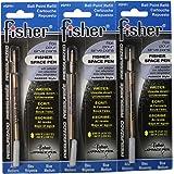 Fisher 太空笔 SPR1,子弹替换装,蓝色,3 支装