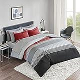 Comfort Spaces - 袋盖被床单套装 Colin Cara 红色/灰色 全部 CS10-0905