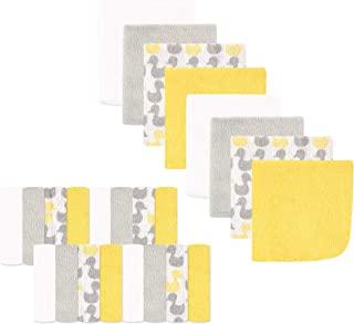 Luvable Friends Washcloths Yellow Ducks 24份