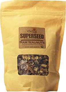 eSutras Organics Raw Walnut Halves, 16 Ounce