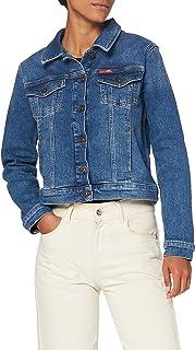 Lee Cooper 女式卡车司机牛仔夹克,蓝色,标准