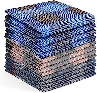 男士手帕棉,Ohuhu 12 件手帕,父亲节礼物