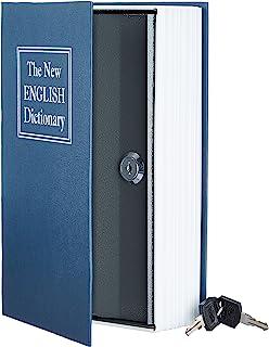 AmazonBasics 亚马逊倍思 Book Safe Lock Box 蓝色 大 SW-802K-B