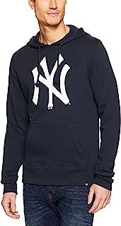 '47 纽约洋基队男式队标头线套头连帽运动衫 - *蓝