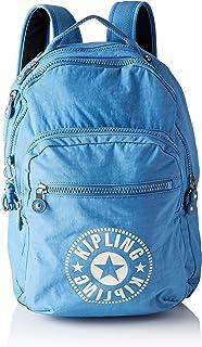 Kipling 凯浦林 Clas Seoul 通用学生书包 双肩包,Blue (Dynamic Blue),45 cm