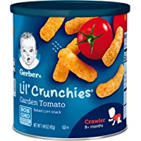Gerber 嘉宝 Lil' Crunchies 手指饼干 番茄花园口味 1.48盎司(42克)6罐装