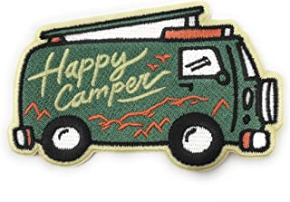 O'Houlihans - Happy Camper 熨烫补丁 - Camper Van 补丁,冒险补丁,露营补丁 - 背包、帽子、夹克的完美补丁