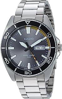 Casio Casio 男式'Sports'石英不锈钢休闲手表,颜色:银色调(型号:MTD-120D-8AVCF)