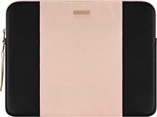 舒适的平板电脑内胆包适用于 12.9 英寸 iPad Pro 2020-2018 和 Magic/Smart 键盘带笔架,防水平板电脑保护套包,粉色和黑色拼块