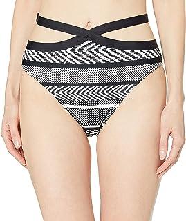 Kenneth Cole New York 女式带状前交叉中腰低腰比基尼泳装下装