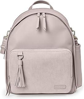 Skip Hop 尿布包背包:Greenwich 多功能婴儿旅行包,带更换垫和婴儿车带,人造皮革, Portobelello