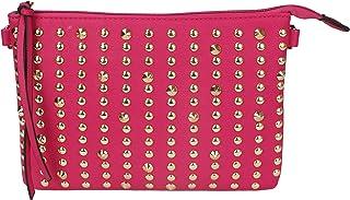 MoDA-仿皮金色铆钉单肩斜挎手包 - 各种颜色