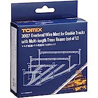 TOMIX N轨距 多复线绗架架线柱 12支套装 3007 铁道模型用品