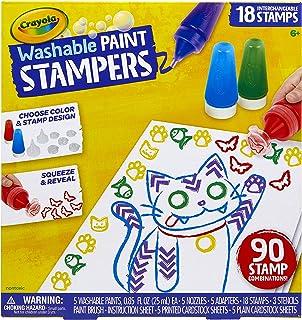 Crayola 绘儿乐 可水洗颜料印章 儿童颜料套装 男孩女孩礼物 适合年龄 6、7、8、9 岁