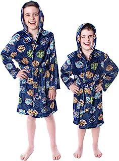 Beyblade Burst 男童万向轮上衣图案羊毛连帽长袍浴袍