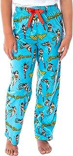DC Comics 女童神奇女侠复古角色全身图案儿童休闲*睡裤