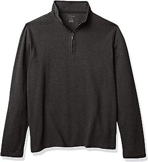 Van Heusen 男士高大长袖光谱纯色 1/4 拉链衬衫